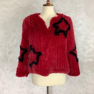 Funky Red Fur Jacket